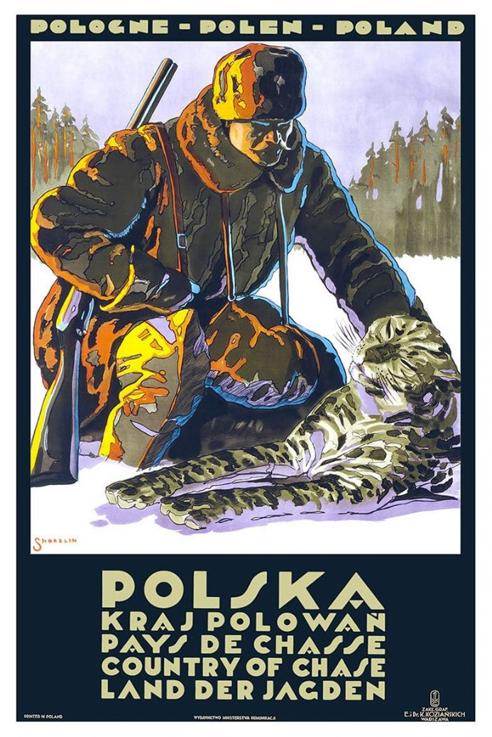 Poland/Polska: Country of Chase.  Vintage Travel Print/Poster. Sizes: A4/A3/A2/A1 (002700)